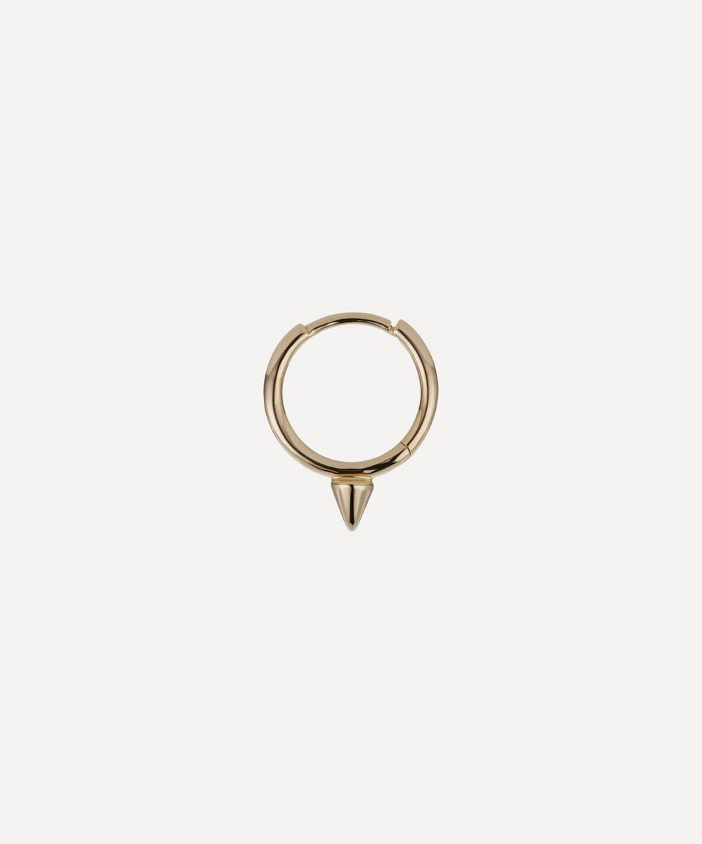 9.5mm Single Short Spike Non-Rotating Hoop Earring