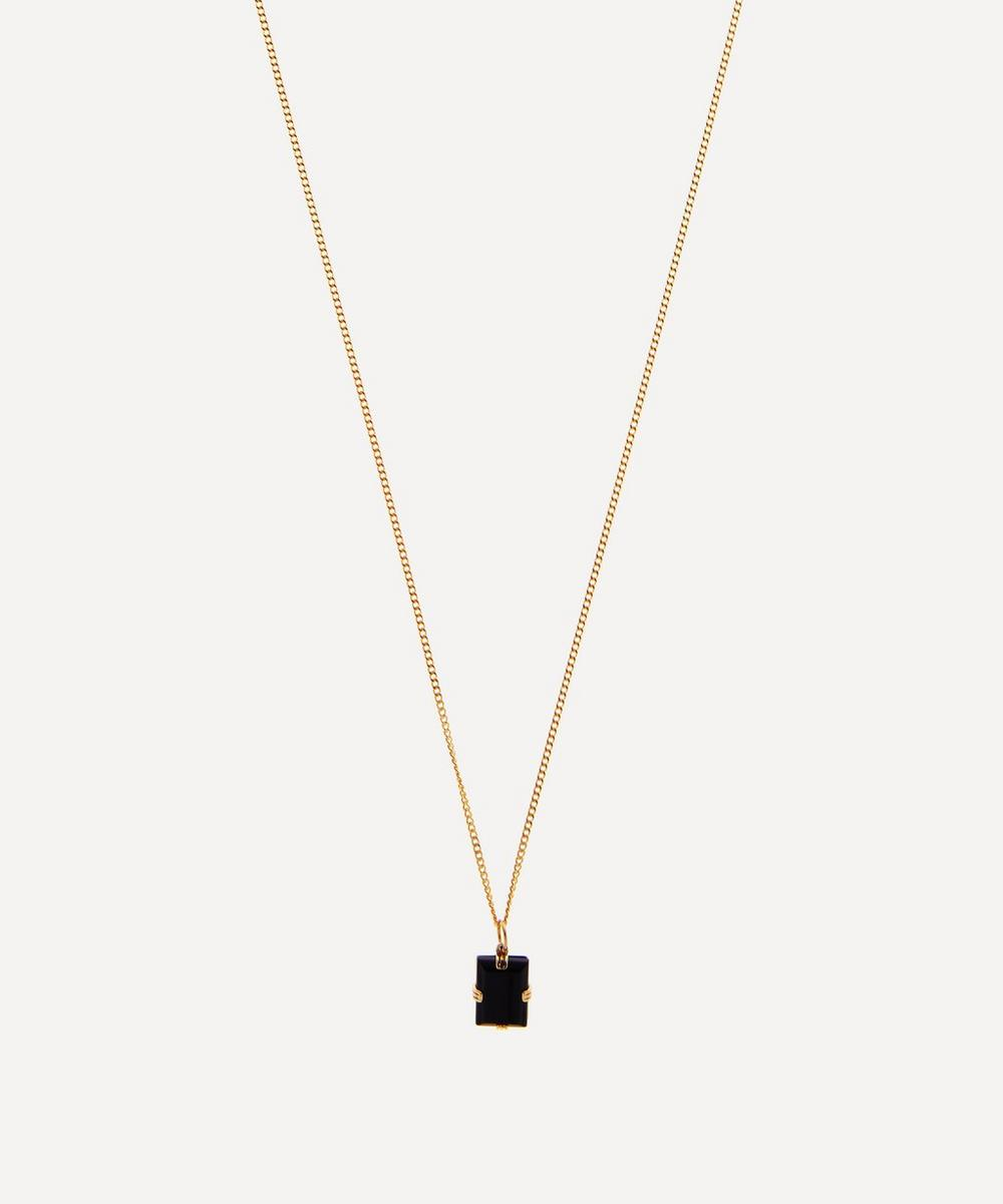 Gold-Plated Lennox Onyx Necklace