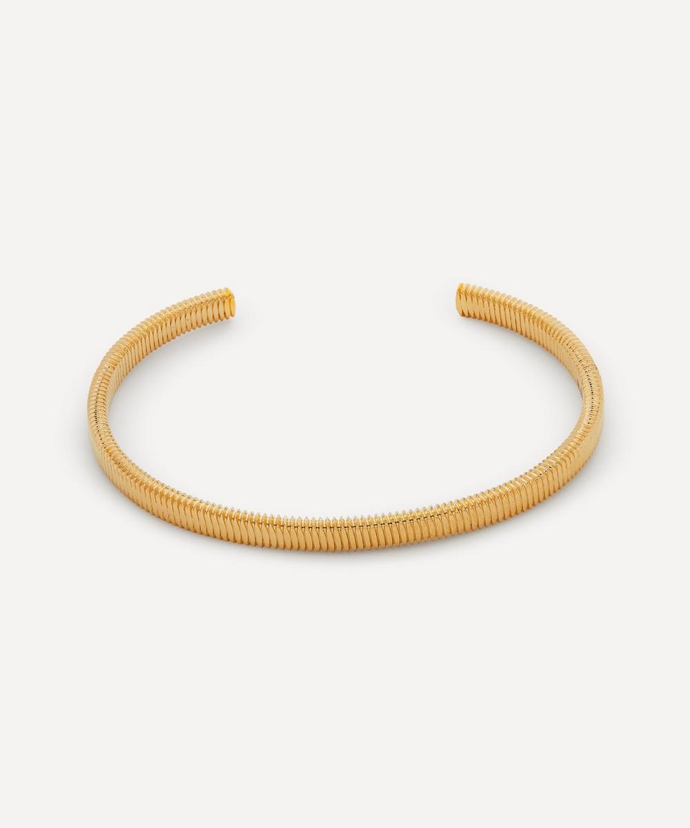 Gold-Plated Thread Cuff Bracelet