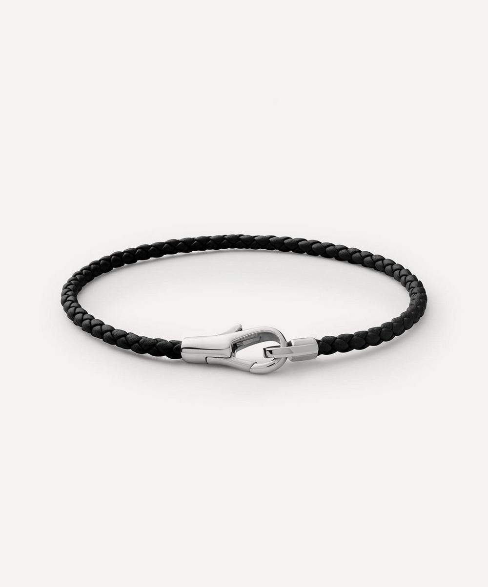 Sterling Silver Knox Leather Bracelet