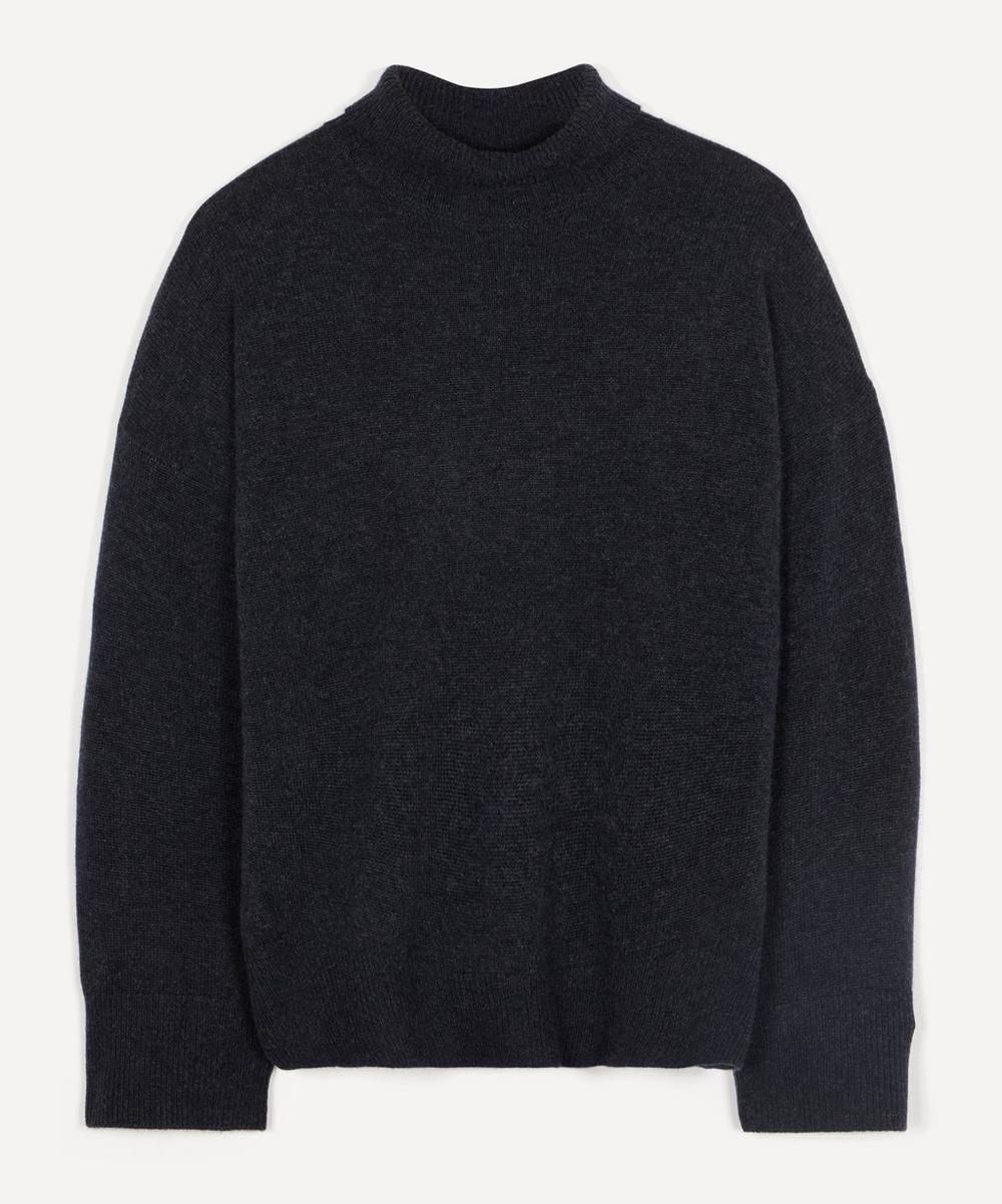 Roll-Neck Oversized Cashmere Knit