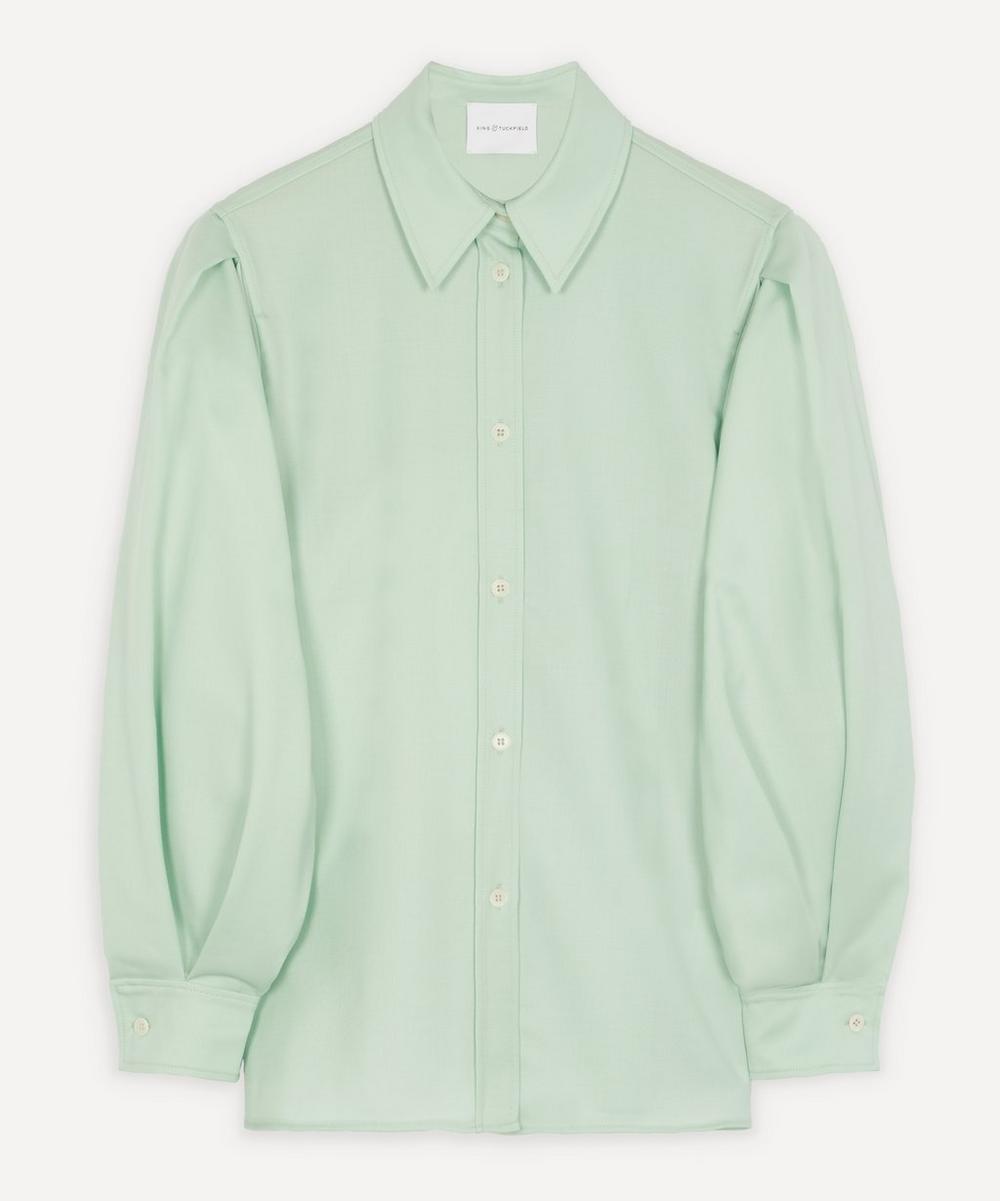Balloon-Sleeve Cotton Shirt