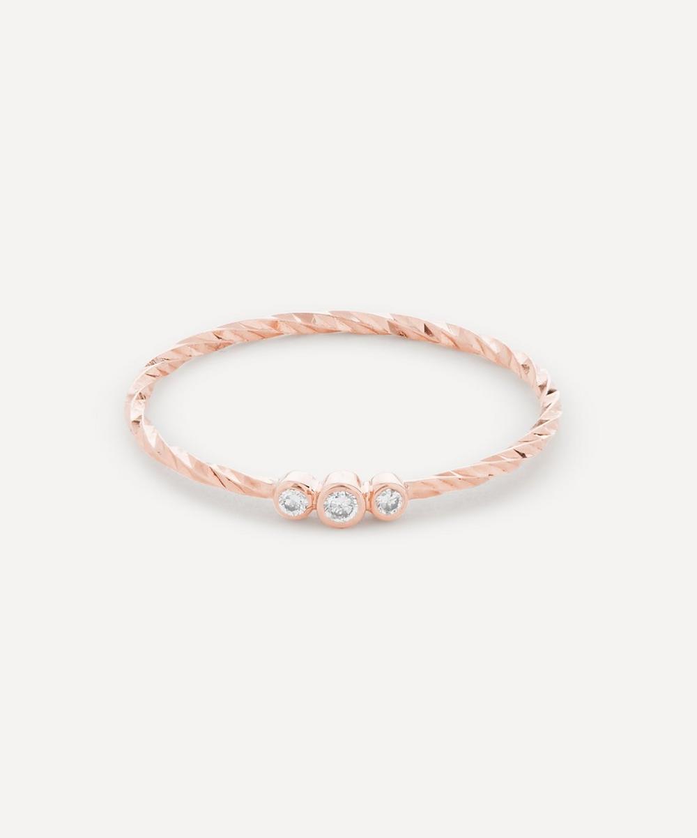 Rose Gold Jessa Diamond Ring