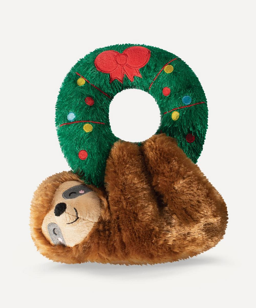Sloth on Wreath Dog Toy