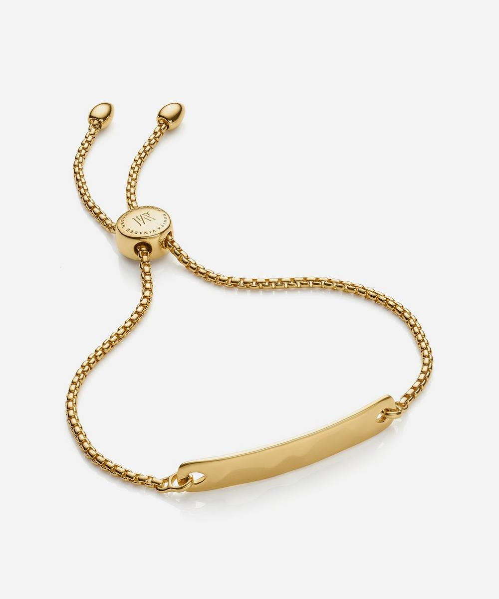Gold Plated Vermeil Silver Havana Mini Chain Friendship Bracelet