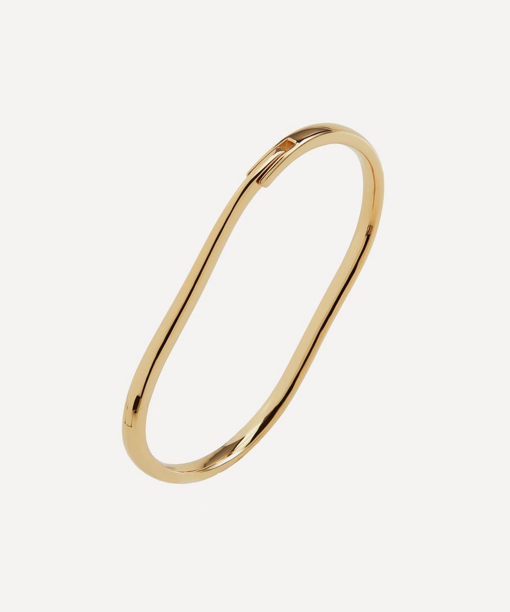 Gold Plated Vermeil Silver Alta Capture Medium Charm Bangle