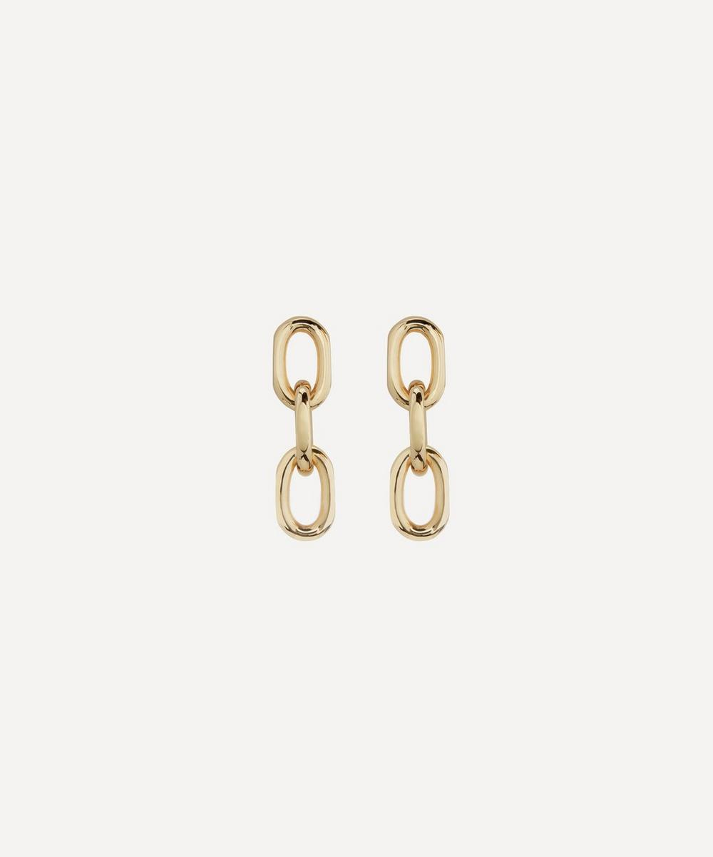 Gold-Plated Vermeil Silver Alta Capture Mini Link Earrings