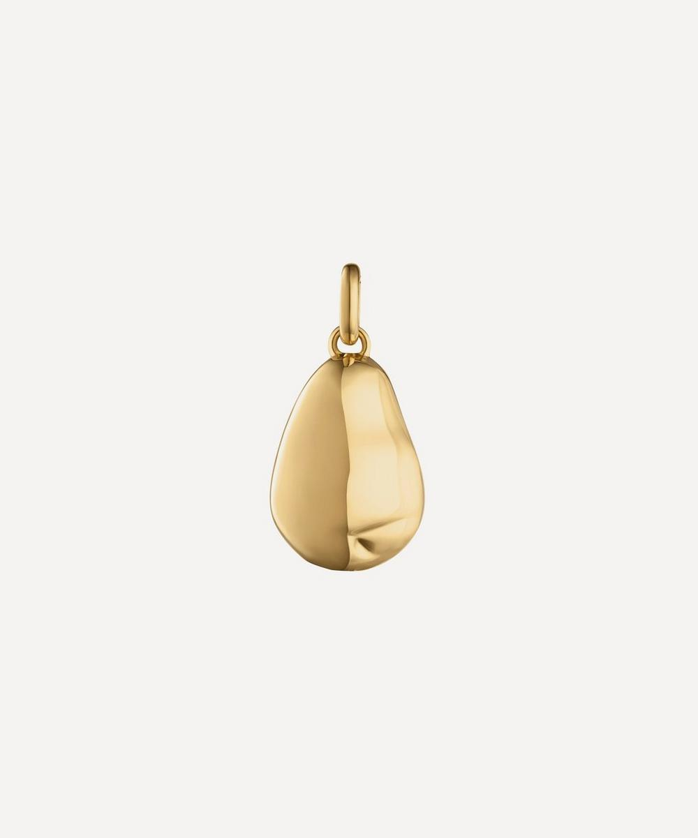 Gold Plated Vermeil Silver Nura Pearl Pendant Charm