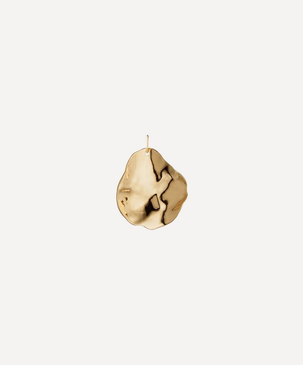Gold Plated Vermeil Silver Nura Shell Pendant Charm
