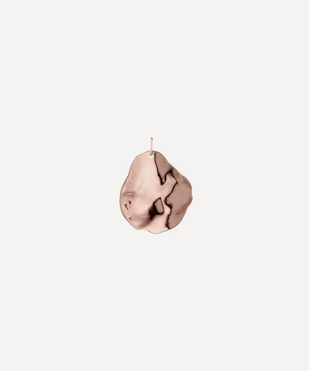 Rose Gold Plated Vermeil Silver Nura Shell Pendant Charm