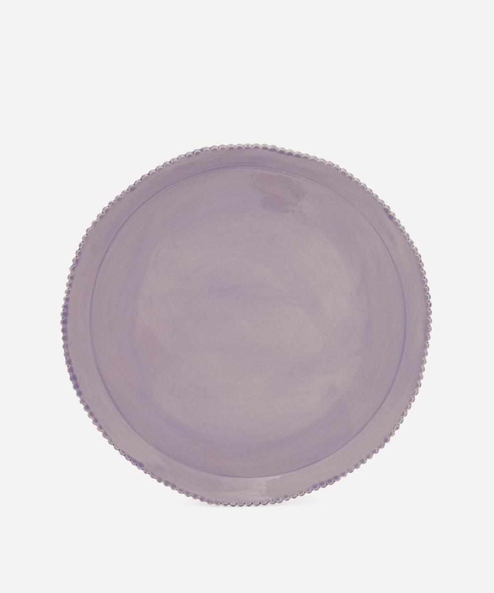 Scalloped Edge Stoneware Charger Plate