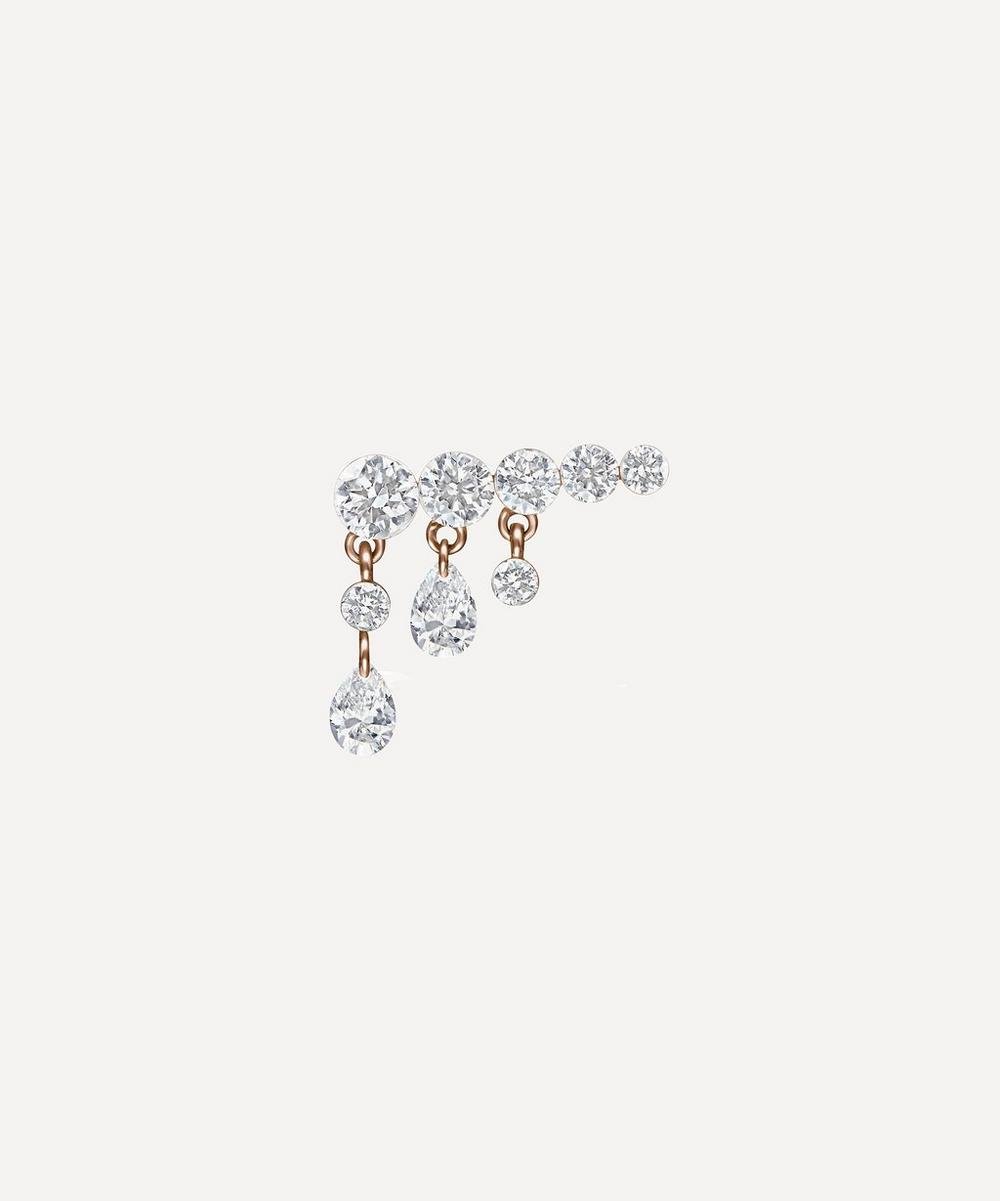 11mm Crescendo Bar Invisible Set Diamond Stud Earring Right