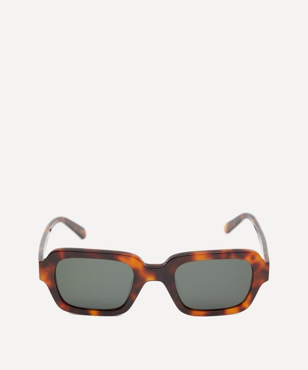 Code Bold Rectangular Acetate Sunglasses