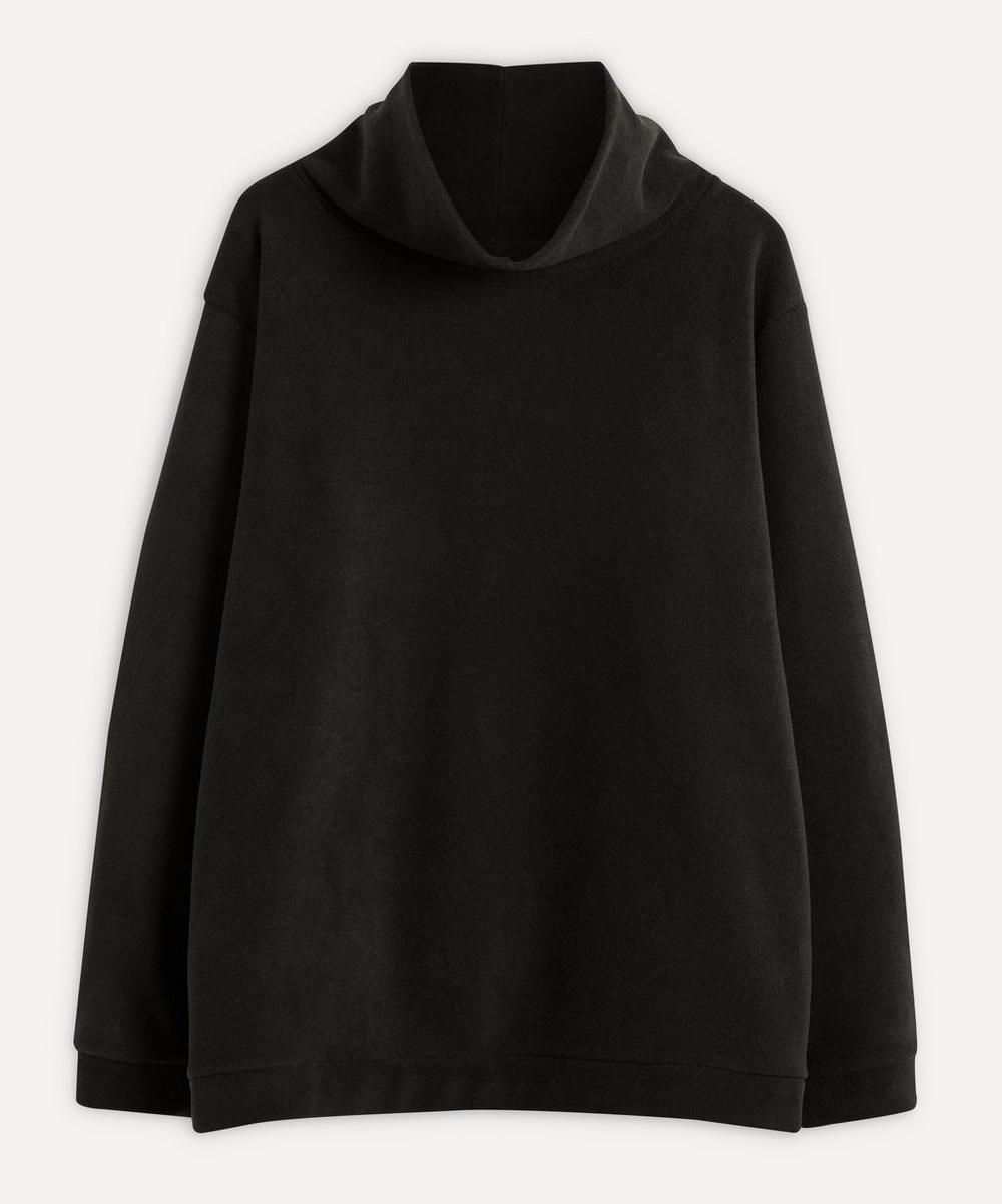 Reversible Fleece High-Neck Sweater