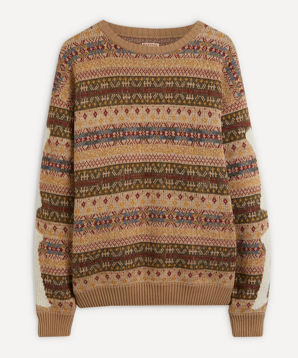 Bone Pattern Fair Isle Wool Jumper