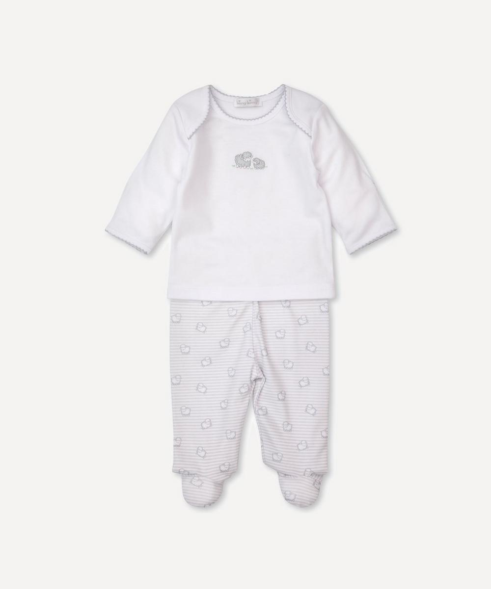 Sheep Print Footed Trouser Set 0-6 Months