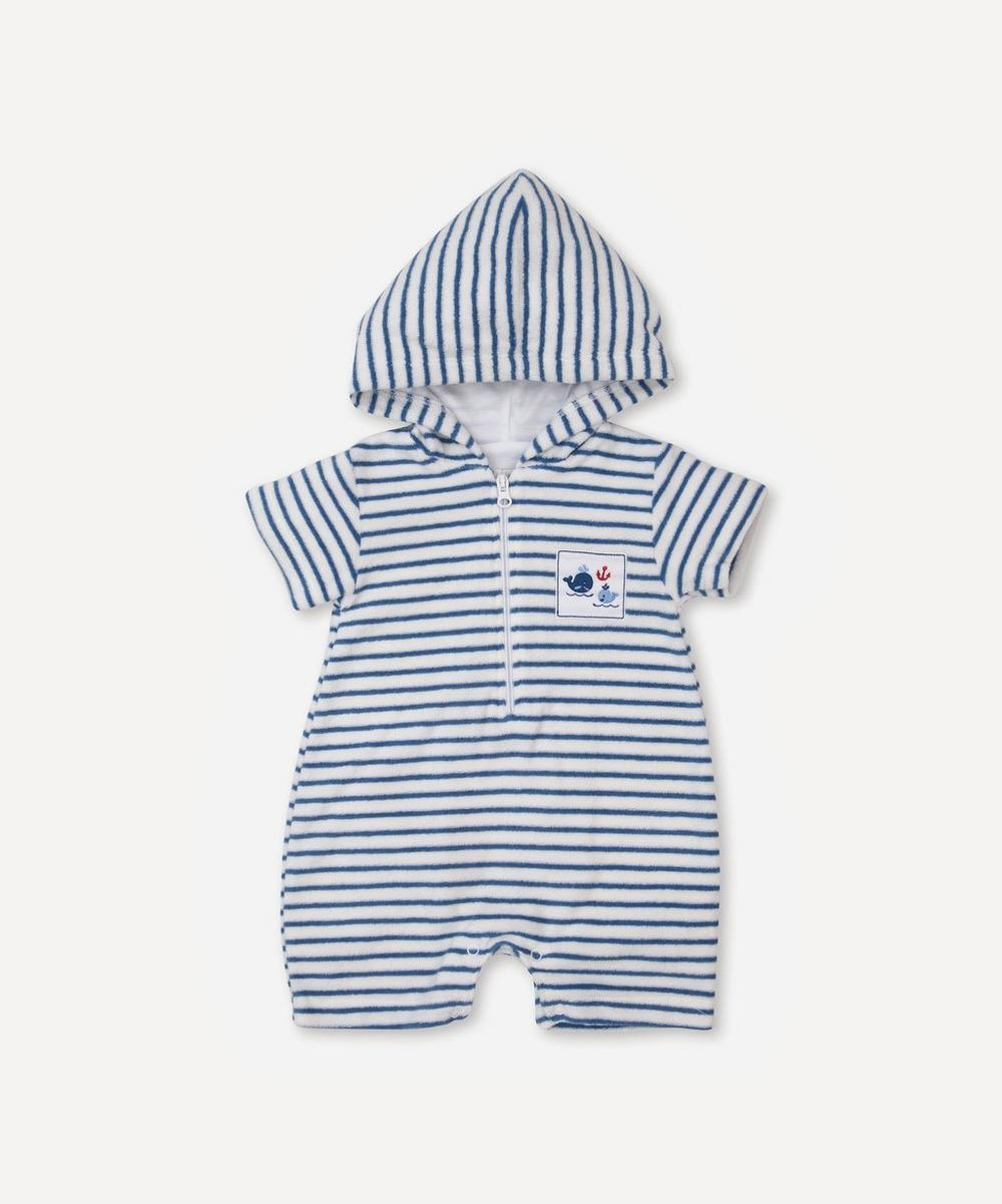 Breaching Whales Terry Romper 0-18 Months