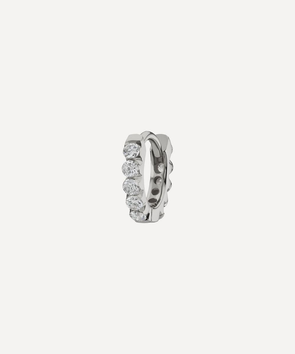 5mm Invisible Set Diamond Eternity Hoop Earring