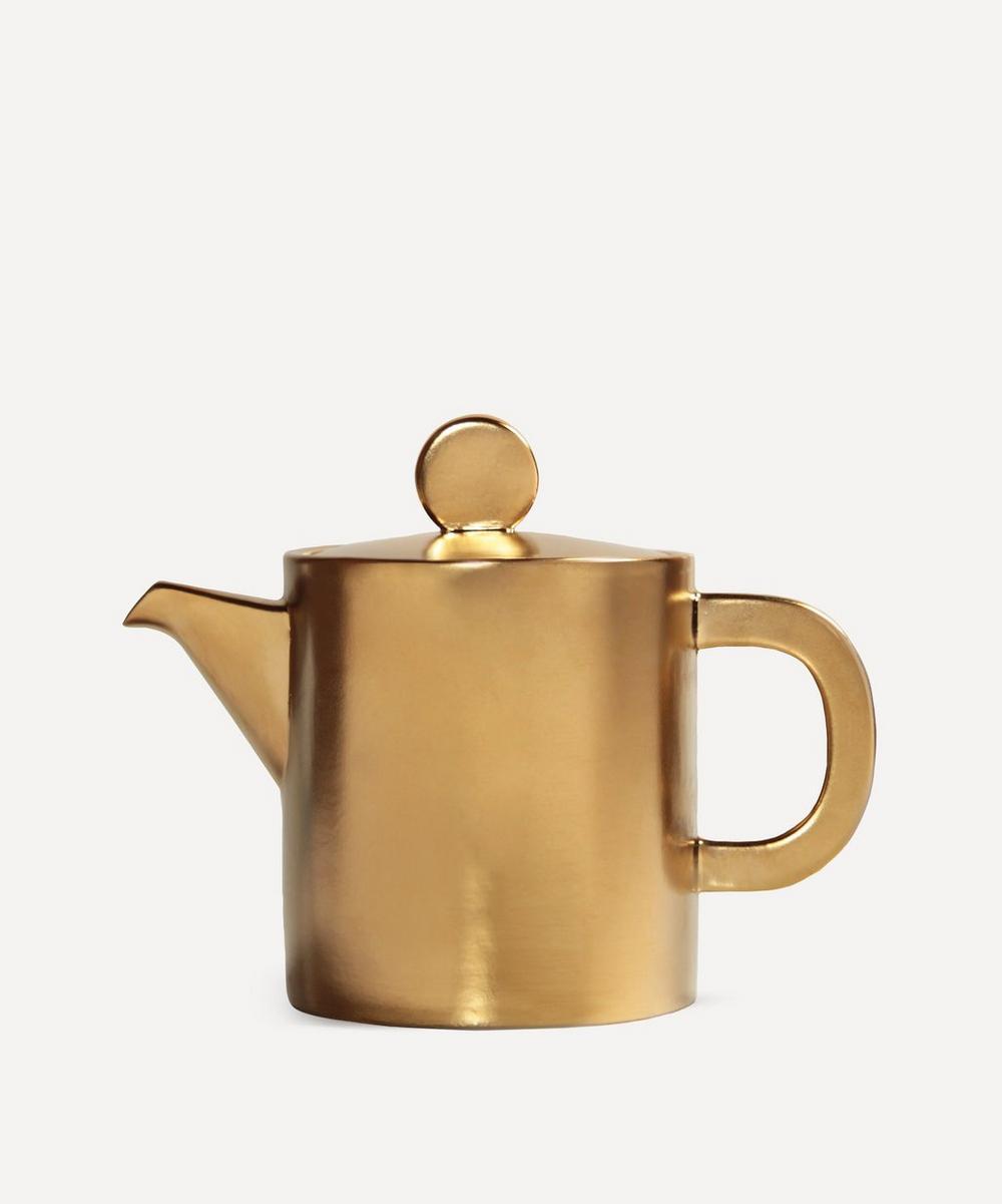 Gold-Tone Canniken Teapot