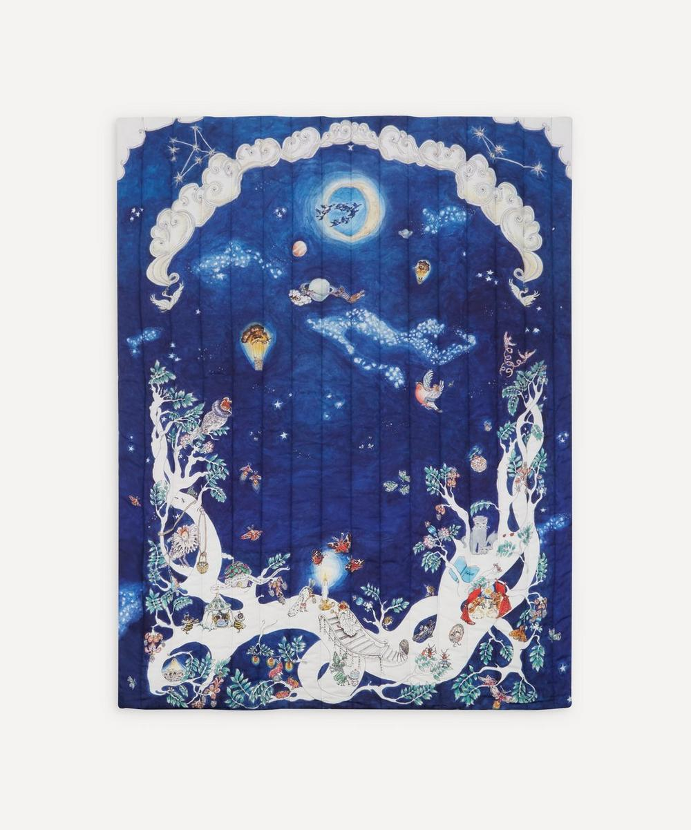 Space Above the Ground Quilted Cot Blanket
