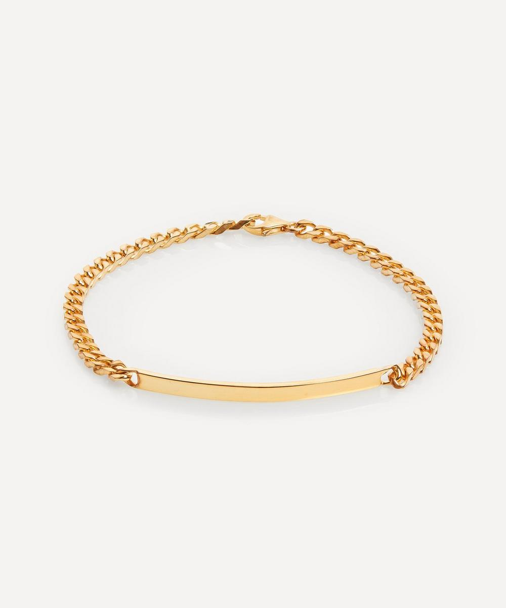 Gold-Plated ID Chain Bracelet