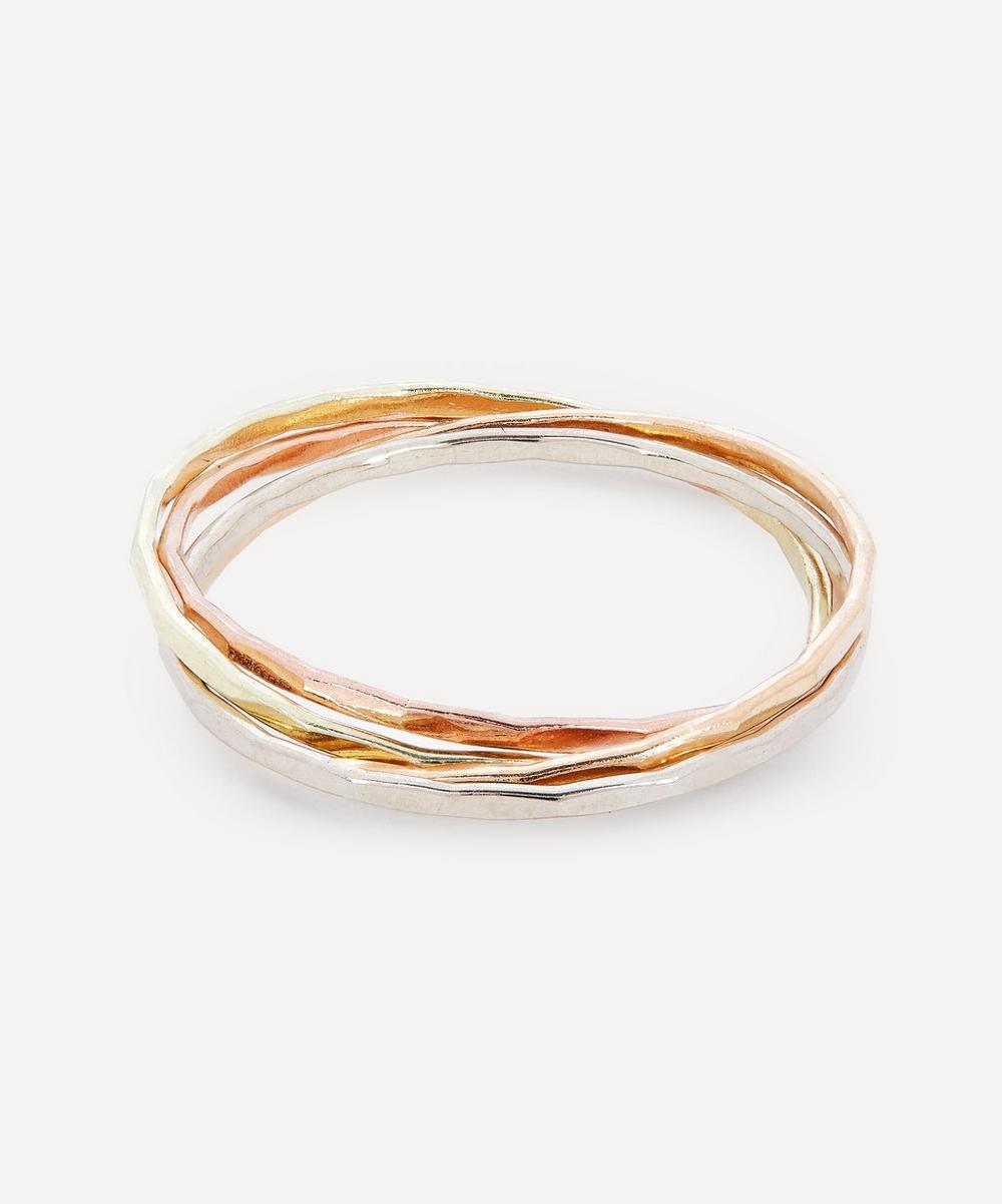 Mixed Gold Interlocking Rings
