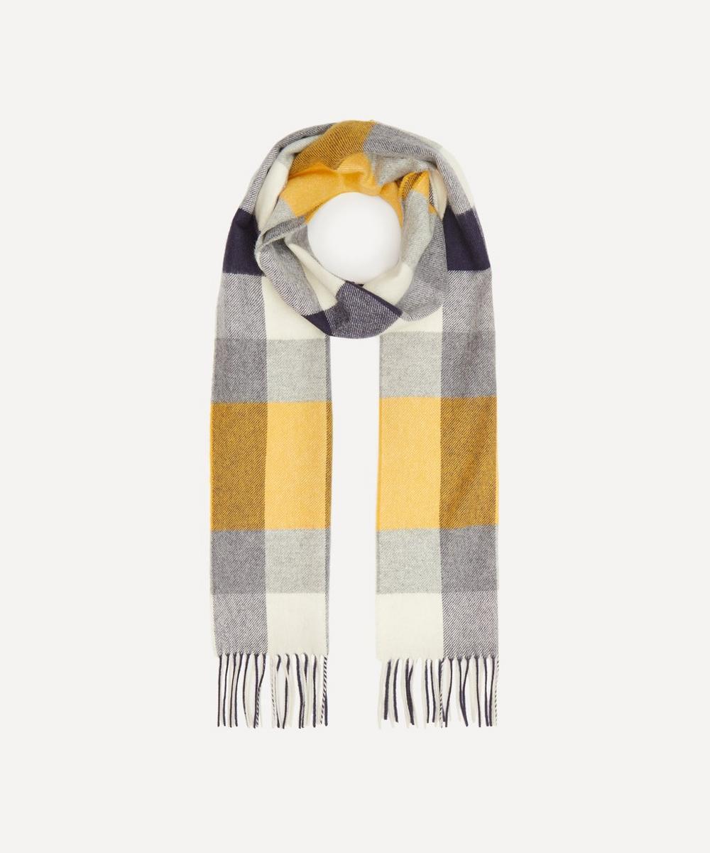 Plaid Check Merino Wool Scarf