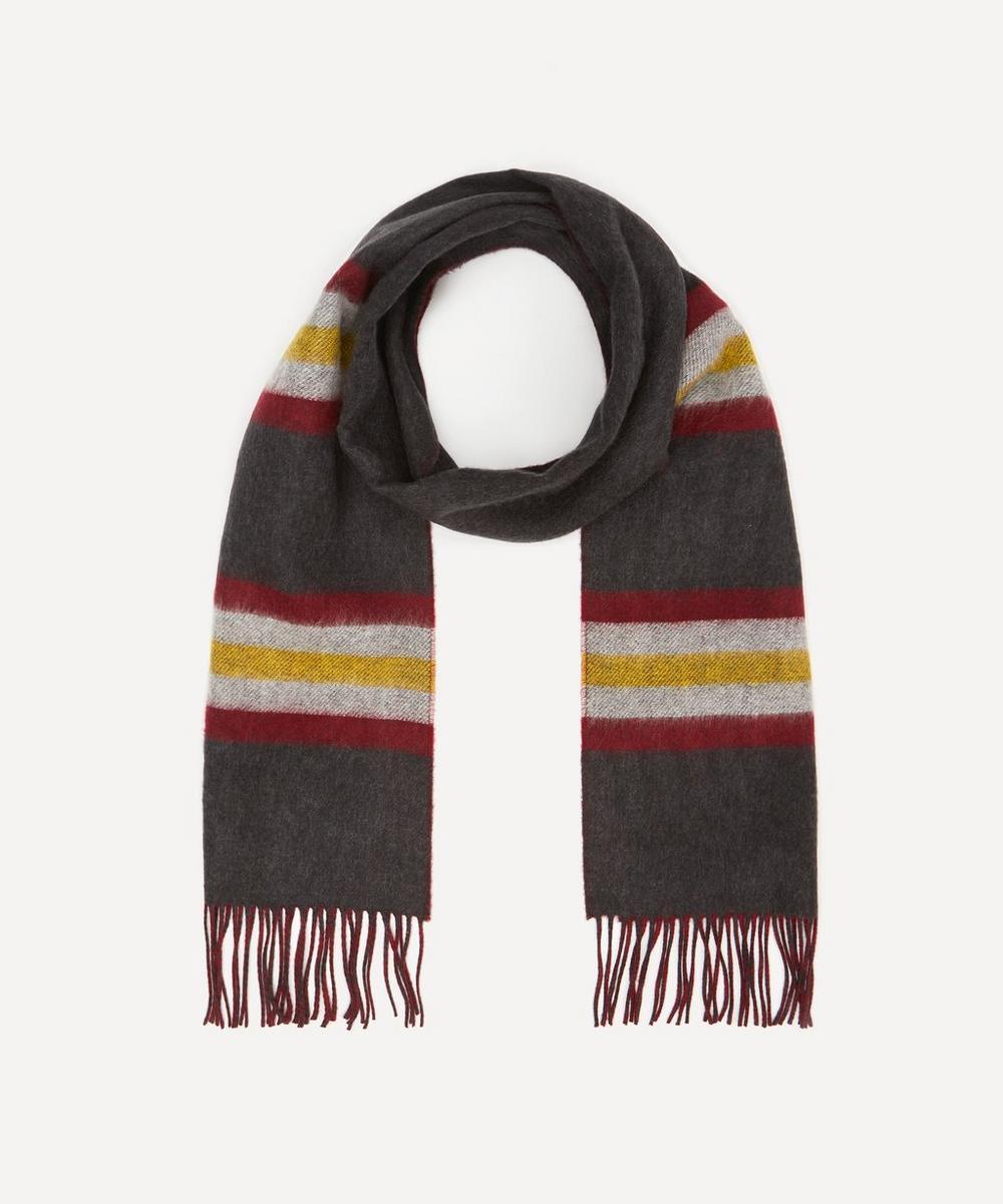 Stripe Merino Wool Reversible Scarf