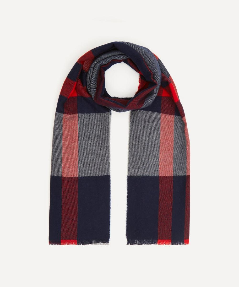 Exploded Check Merino Wool Scarf