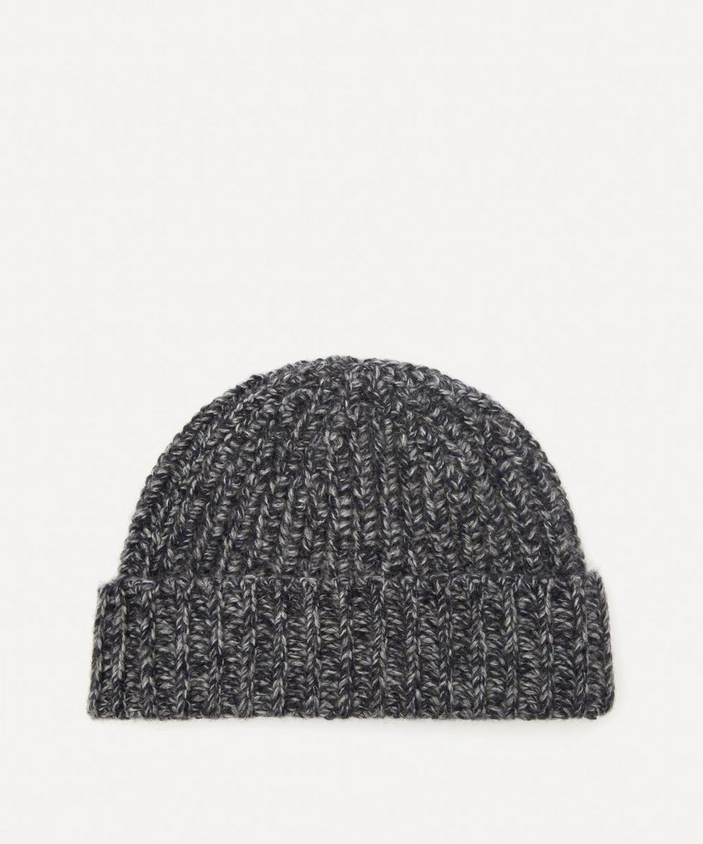 Ribbed Merino Wool Marl Hat