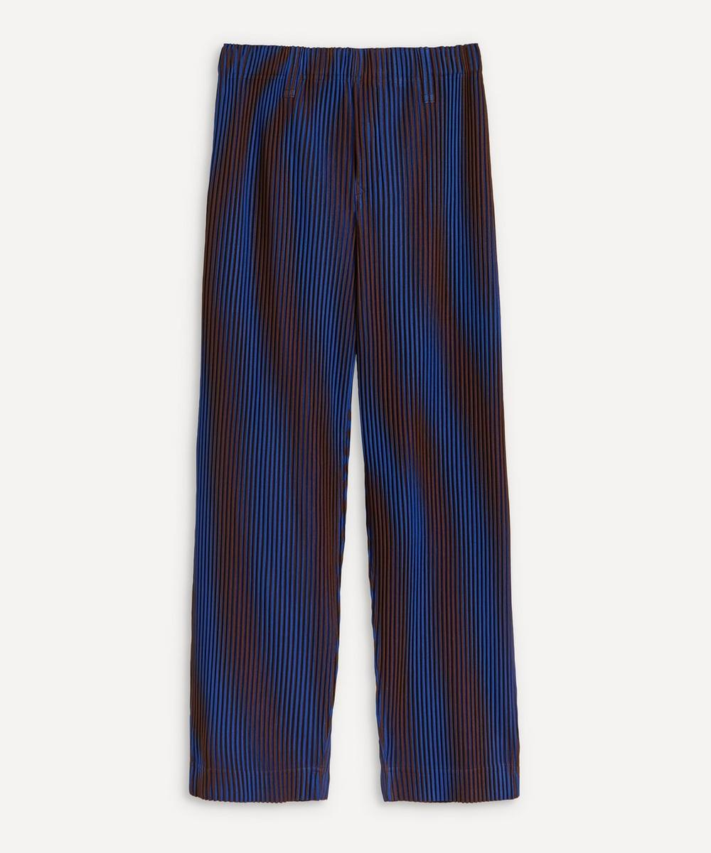Hologram Stripe Pleated Trousers