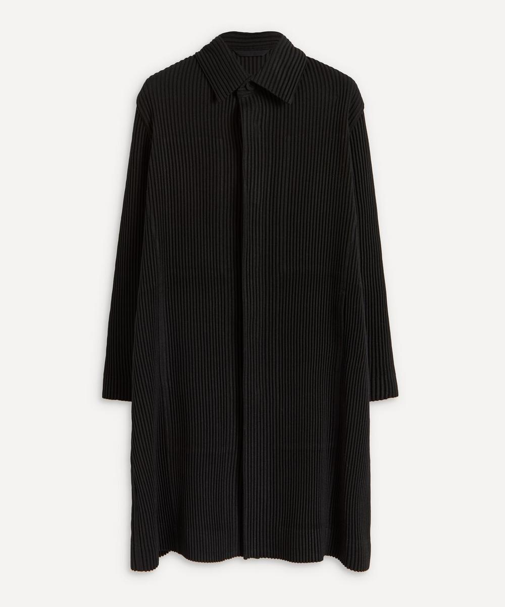 Long Pleated Overcoat