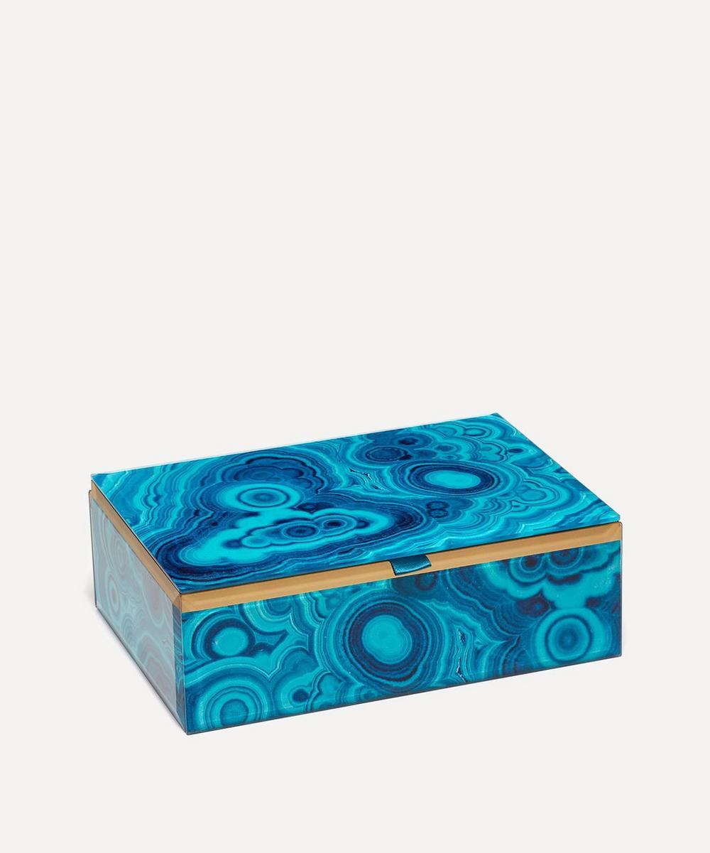Bubble Malachite Rectangular Treasure Box