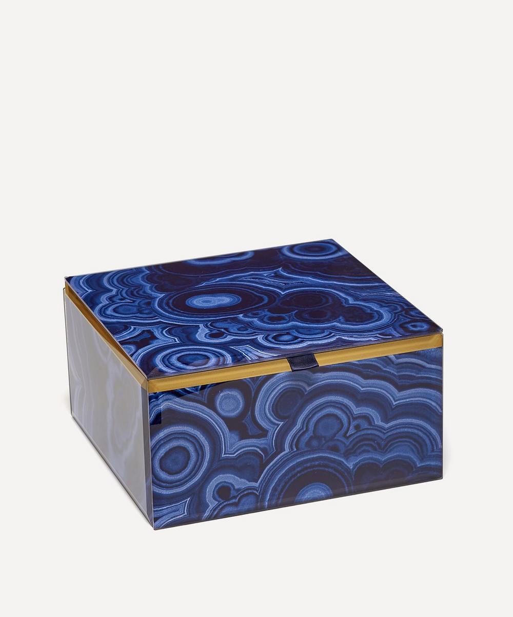 Bubble Malachite Large Square Treasure Box