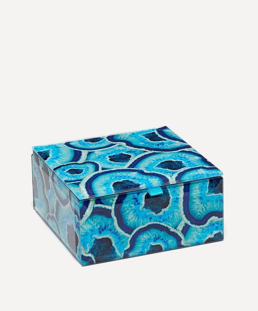 Agate Slices Small Square Treasure Box