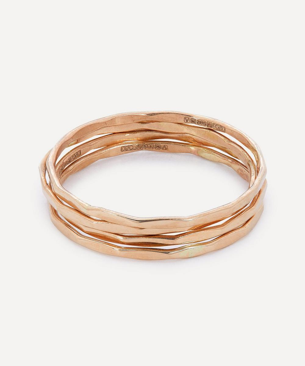 Gold Stacking Rings Set of Four