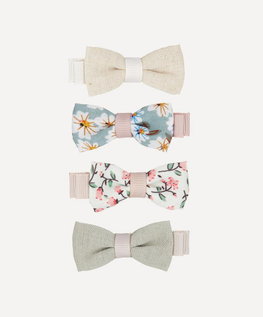 Floral Bow Hairclips