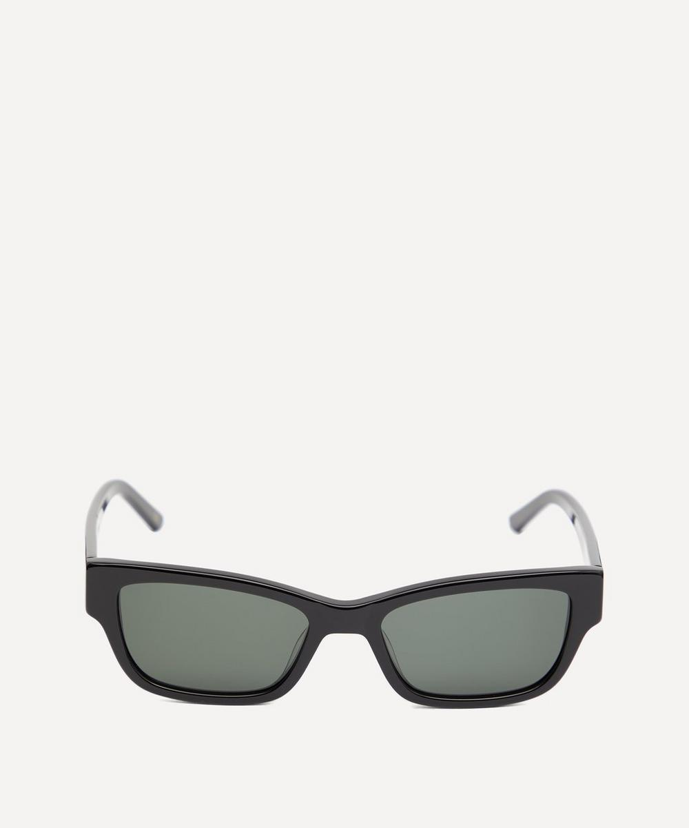 Moon Slim Rectangular Acetate Sunglasses