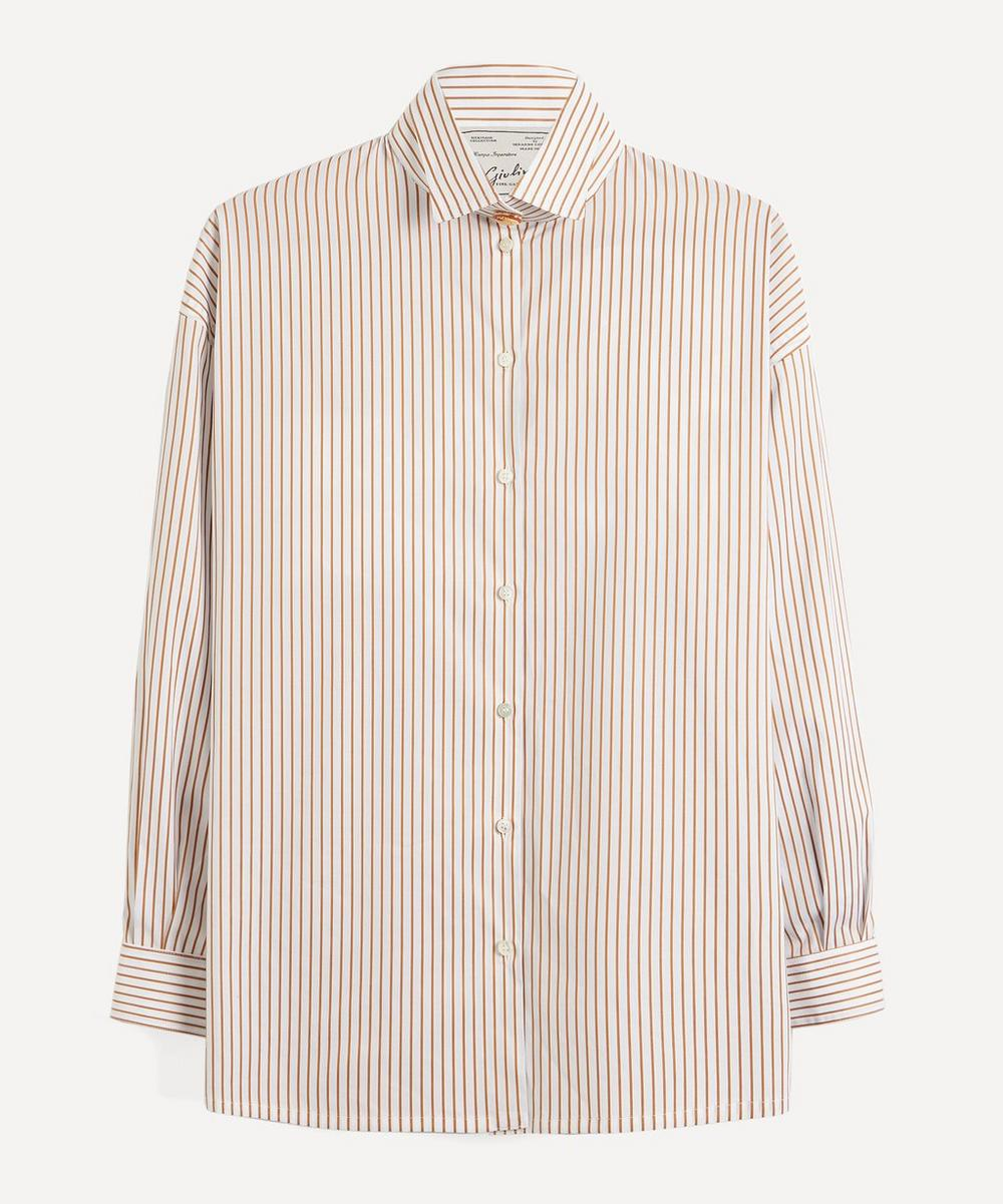 Oversized Stripe Cotton Shirt