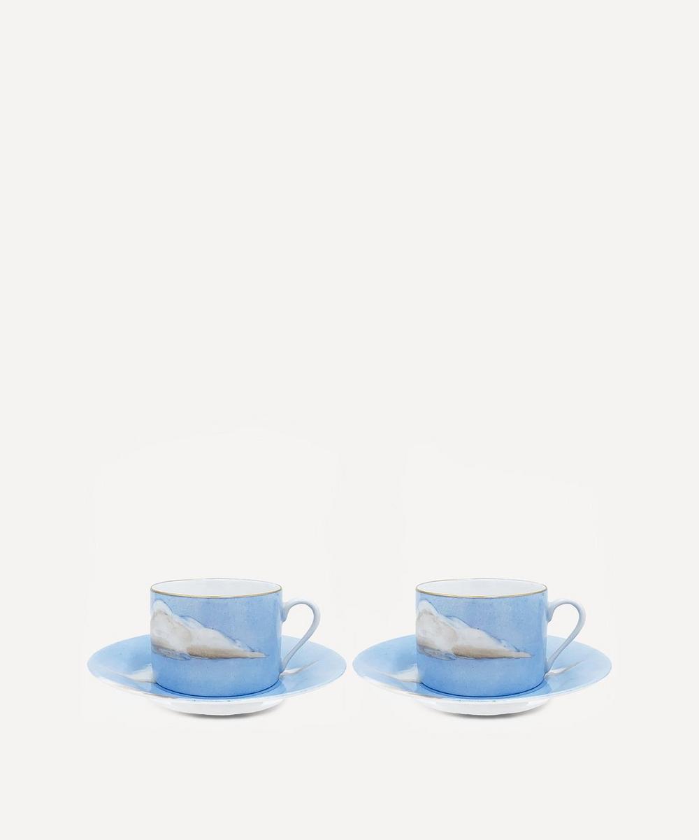 Ciels Bleus Teacup and Saucer Set of Two