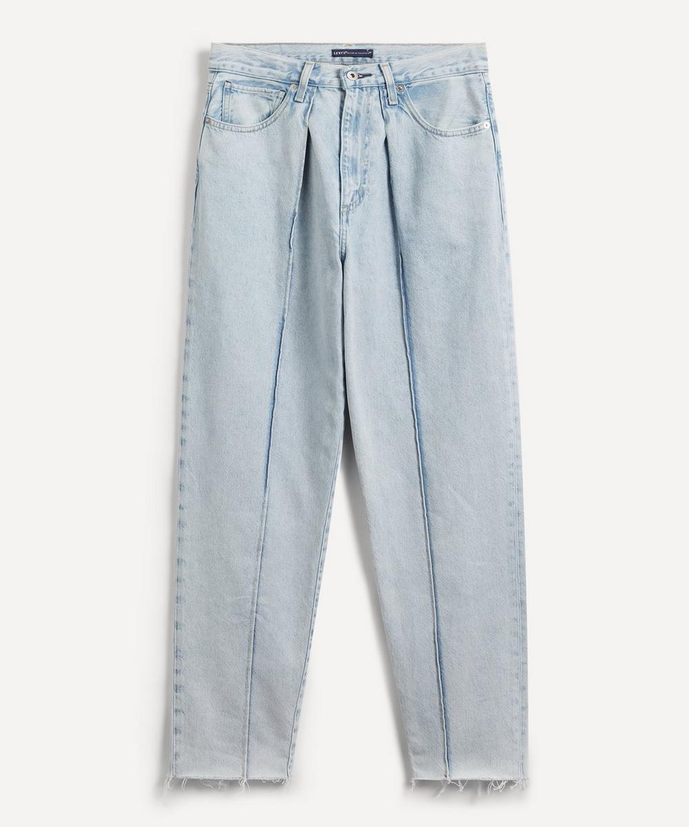 Pleated Column Jeans