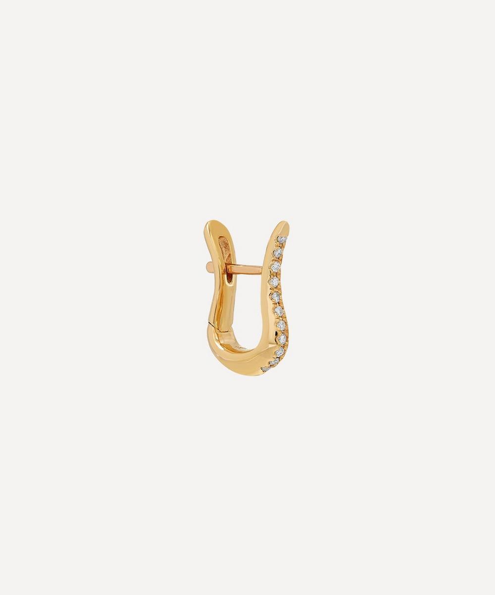 Gold Cygnus Diamond Hoop Earring