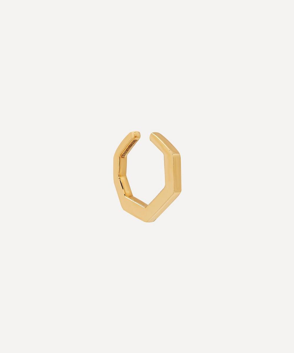 Gold Small Octagon Ear Cuff