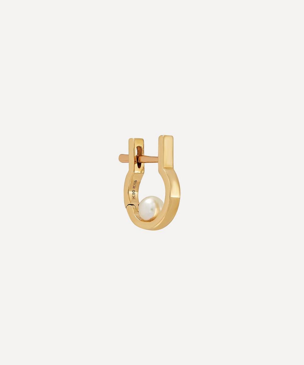Gold Ind'stria Mini Pearl Hoop Earring