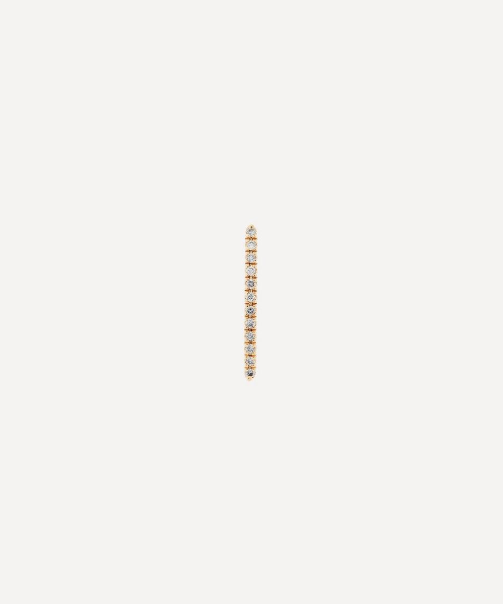 Gold Gossamer Diamond Short Bar Earring