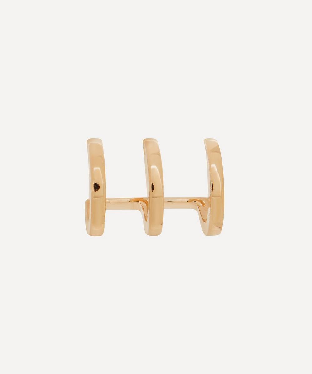 Gold Manhattan Triple Hoop Earring