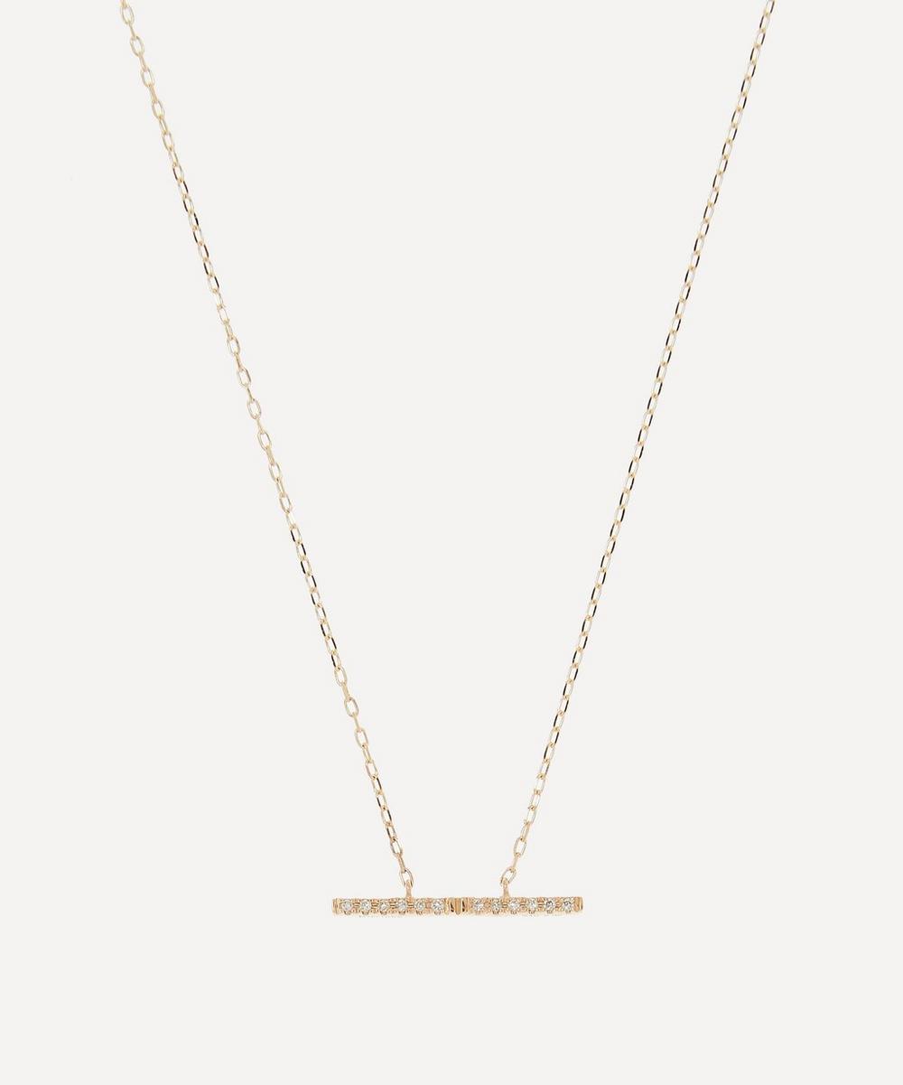 Gold Trapeze Medium Diamond Pendant Necklace