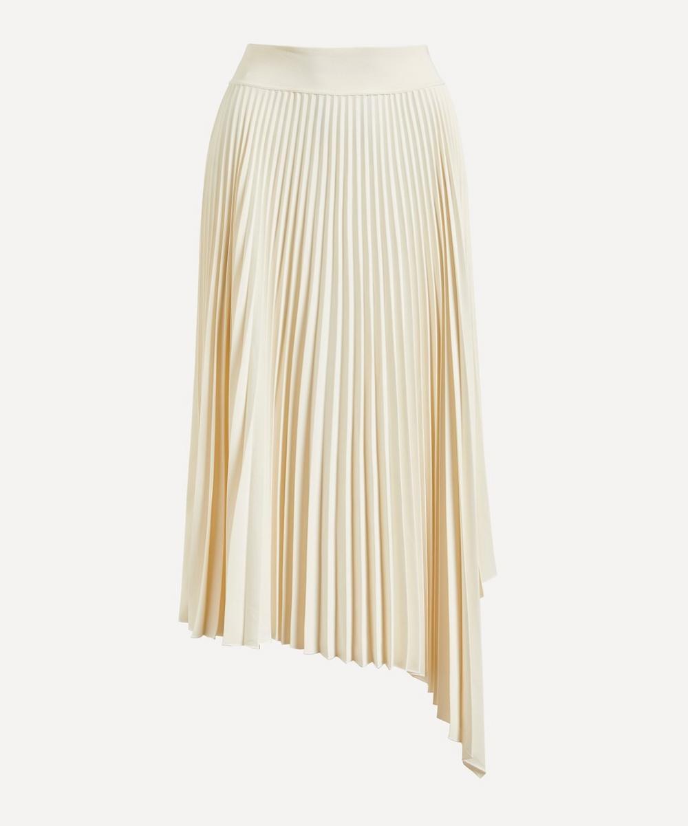 Swinton Pleated Crepe Midi-Skirt