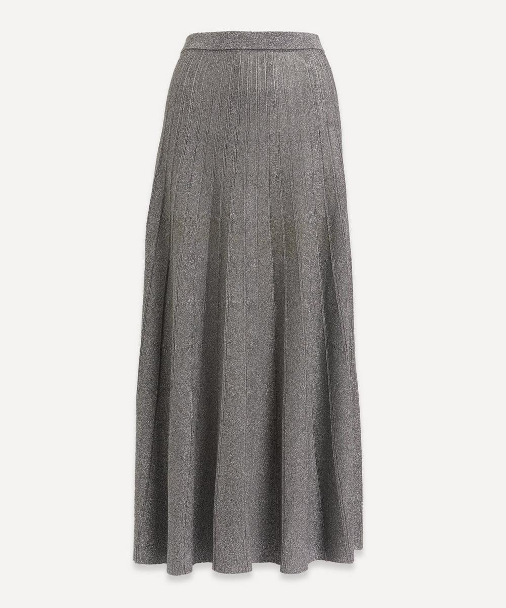 Lurex Pleated Midi-Skirt