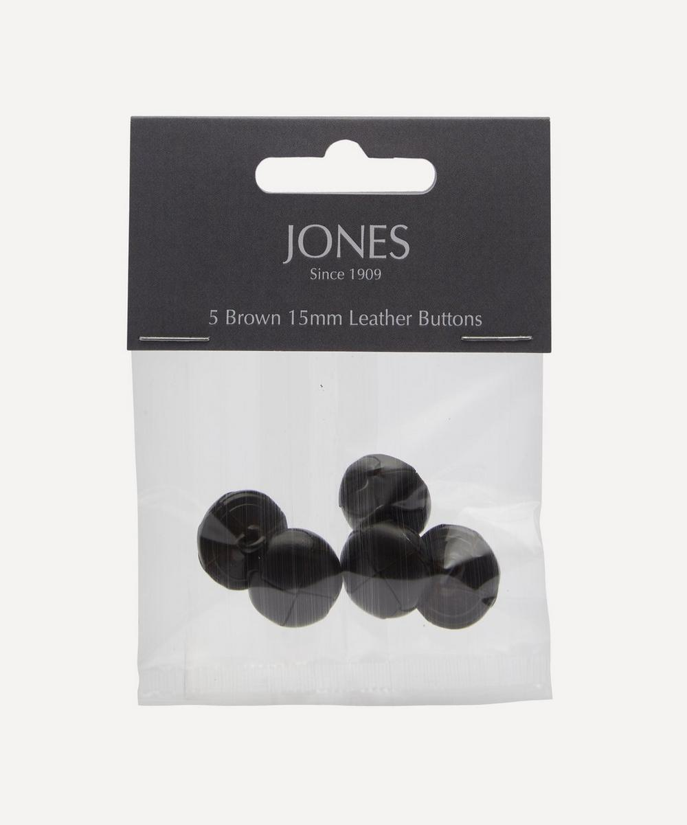 Leather 15mm Jacket Cuff Buttons ' Pack of 5